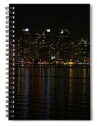 San Diego Skyline Night Spiral Notebook