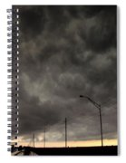 Severe Warned Nebraska Storm Cells Spiral Notebook