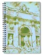 Trevi Fountain Landscape Spiral Notebook