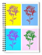 8 Warhol Roses By Punt Spiral Notebook