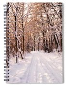 Winter White Forest Spiral Notebook