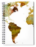 Abstract Map Spiral Notebook