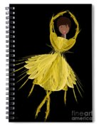 8 Yellow Ballerina Spiral Notebook