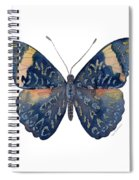 89 Red Cracker Butterfly Spiral Notebook