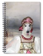 Borzoi - Russian Wolfhound Art Canvas Print Spiral Notebook