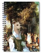 Italian Greyhound Art Canvas Print  Spiral Notebook