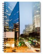 Charlotte City Skyline Night Scene Spiral Notebook