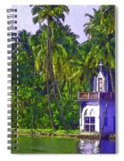 Church Located Next To A Canal Spiral Notebook