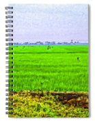 Green Fields With Birds Spiral Notebook