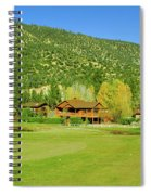 9-hole Golf Course In Autumn At Pine Spiral Notebook