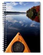 Lake In Autumn Spiral Notebook