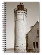 Lighthouse - Mackinac Point Michigan Spiral Notebook