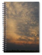 Nebraska Mammatus Sunset Spiral Notebook