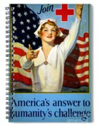 Red Cross Poster, 1917 Spiral Notebook
