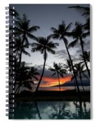 Silhouette Of Palm Trees At Dusk Spiral Notebook