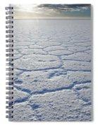 sunrise at Salar de Uyuni worlds largest salt lake Bolivia Spiral Notebook