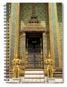 Temple In Grand Palace Bangkok Thailand Spiral Notebook