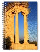 Temple Of Apollo Spiral Notebook