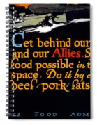 Wwi Food Supply, 1917 Spiral Notebook