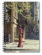 91st Street At Lexington Avenue Oil On Canvas Spiral Notebook
