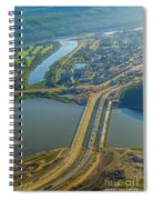 Fort Mcmurray From The Sky Spiral Notebook
