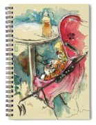 A Baby At A Cafe Spiral Notebook