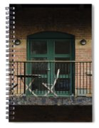 A Balcony On The River Aire Spiral Notebook
