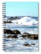 Seascape And Sea Gulls Spiral Notebook