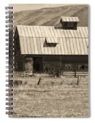 A Barn Near Ellensburg Wa Bw Spiral Notebook