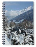 A Beautiful Winterday - Austrian Alps Spiral Notebook