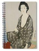 A Beauty In A Black Kimono Spiral Notebook