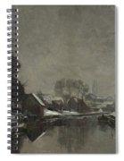 A Belgian Town In Winter Spiral Notebook