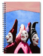 A Bevy Of Jesters Spiral Notebook