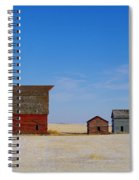 A Big Barn And Three Small Ones Spiral Notebook