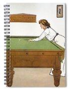 A Billiards Match Spiral Notebook