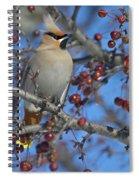 A Bird For Its Crest.. Spiral Notebook