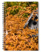 A Bird House Sits Empty In Fall Spiral Notebook