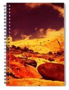 A Black Rock And Blue Sky Spiral Notebook