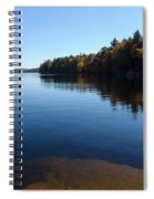 A Blue Autumn Afternoon - Algonquin Lake Tranquility Spiral Notebook