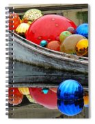 A Boat Full Of Color Spiral Notebook