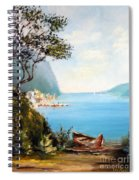A Boat On The Beach Spiral Notebook