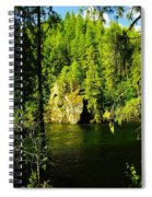 A Boulder Across The Seleway River  Spiral Notebook