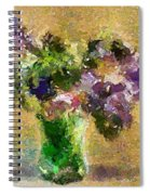 A Bouquet Of Lilac Spiral Notebook