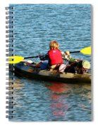 A Boy And His Canoe Spiral Notebook