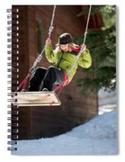 A Boy Plays Outside In Lake Tahoe Spiral Notebook