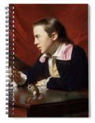 A Boy With A Flying Squirrel. Henry Pelham Spiral Notebook