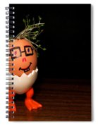 A Brave Eggman. Easter People Series Spiral Notebook