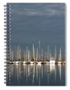 A Break In The Clouds - White Yachts Gray Sky Spiral Notebook
