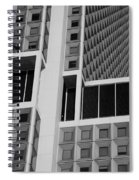 A Break In The Glass In Black And White Spiral Notebook