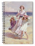 A Breezy Day At The Seaside Spiral Notebook